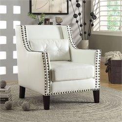 Coaster Wing Accent Chair in White