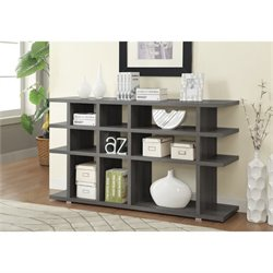 Coaster Contemporary Weathered Bookcase in Dark Grey
