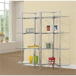 Coaster Contemporary Metal Bookcase in Chrome