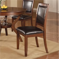 Coaster Nelms Upholstered Dining Side Chair in Dark Brown