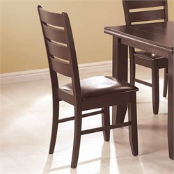 Coaster Page Contemporary Dining Side Chair in Black