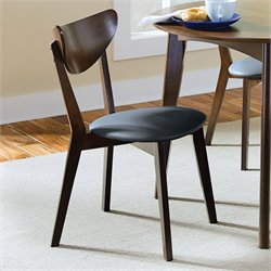 Coaster Malone Modern Dining Side Chair in Black