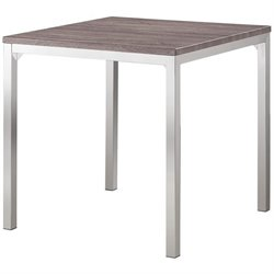 Coaster Eldridge Pub Table in Weathered Gray and Chrome