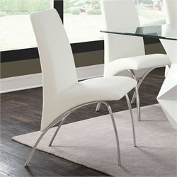 Coaster Ophelia Contemporary Dining Side Chair in White