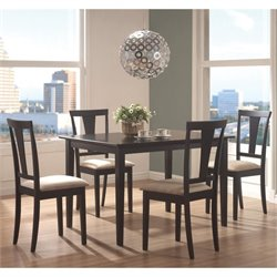 Coaster Geary 5 Piece Dining Set in Black and Beige