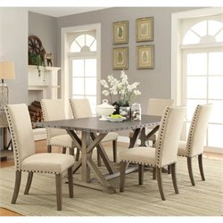 Coaster Webber Dining Set in Driftwood