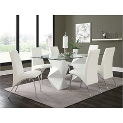 Coaster Ophelia 7 Piece Dining Set in White