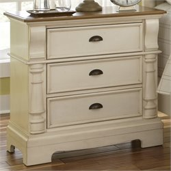 Coaster Oleta 3 Drawer Nightstand in Brown