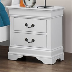 Coaster Louis Philippe Nightstand in White