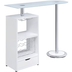 Coaster Contemporary Pub Table in White