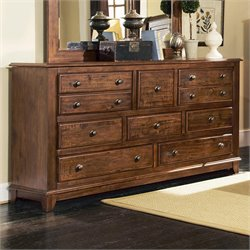 Coaster Laughton 8 Drawer Dresser in Rustic Brown