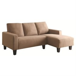 Coaster Sothell Contemporary Sectional in Camel