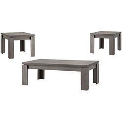 Coaster Weathered 3 Piece Table Set in Dark Grey