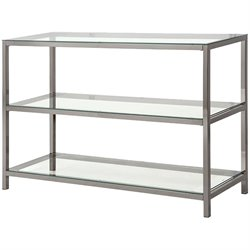 Coster Metal and Glass Sofa Table in Black Nickel