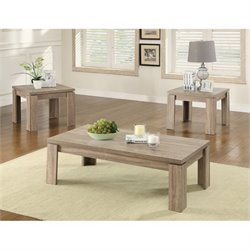 Coaster Weathered 3 Piece Table Set in Brown