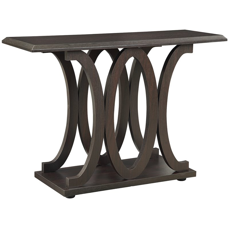Coaster c shaped sofa table in cappuccino 703149 for C tables for living room