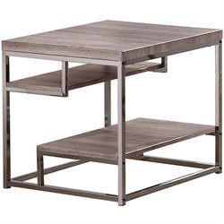 Coaster Wood End Table in Dark Grey