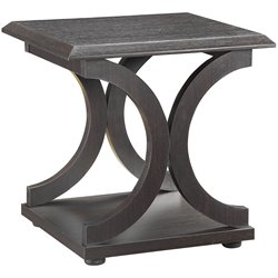 Coaster C Shaped End Table in Cappuccino