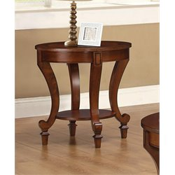 Coaster Wood End Table in Warm Brown