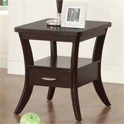 Coaster Flared Leg End Table in Espresso