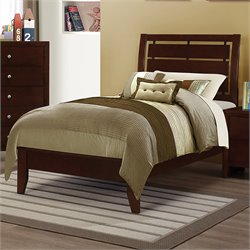 Coaster Serenity Twin Panel Bed in Rich Merlot
