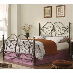 Iron Bed with Headboard in Dark Bronze