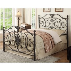 Coaster Full Iron Bed in Brushed Gold