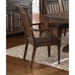 Coaster Carlsbad Arm Dining Chair in Vintage Espresso
