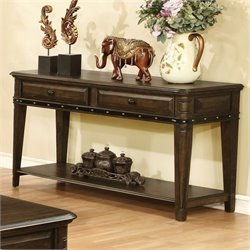 Coaster 2 Drawer 1 Shelf Console Table in Dull Black