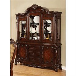 Coaster Benbrook Dining Buffet with Hutch in Dark Cherry