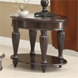 Coaster Amairani 1 Shelf End Table in Dark Merlot
