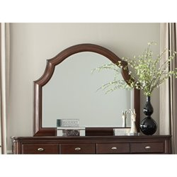 Coaster Sherwood Arched Top Mirror in Red Brown