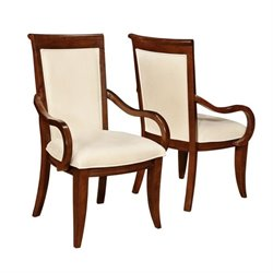 Coaster Alyssa Arm Dining Chair in Dark Cognac