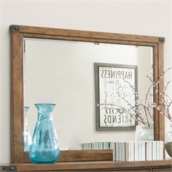Coaster Bridgeport Mirror with Rivet Detail in Weathered Acacia