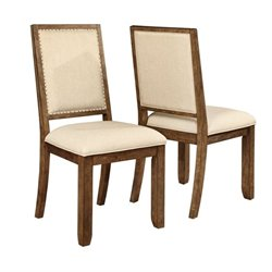 Coaster Bridgeport Dining Chair in Weathered Acacia