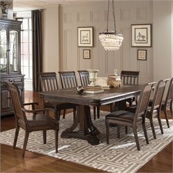 Coaster Carlsbad 9 Piece Dining Set in Vintage Espresso
