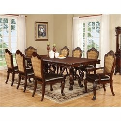 Coaster Benbrook Extendable Dining Set in Dark Cherry