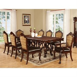 Coaster Benbrook 9 Piece Dining Set in Dark Cherry