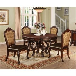 Coaster Benbrook 5 Piece Dining Set in Dark Cherry