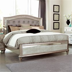 Coaster Bling Game Bed in Metallic Platinum
