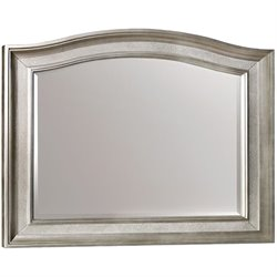 Coaster Bling Game Mirror with Arched Top in Metallic Platinum
