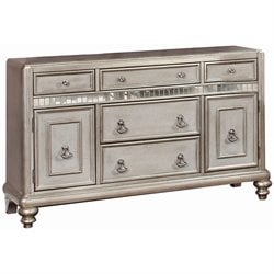Coaster Danette Buffet Table in Metallic Platinum