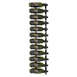 VintageView Wall Mount 24 Bottle Wine Rack in Black Pearl