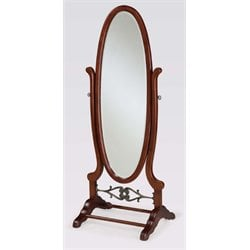 Powell Furniture Heirloom Cherry Cheval Floor Mirror