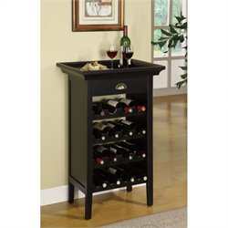 Powell Furniture Black with Merlot Rub through Wine Cabinet