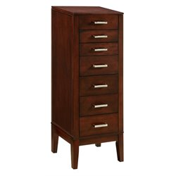 Powell Contemporary Jewelry Armoire in Dark Espresso