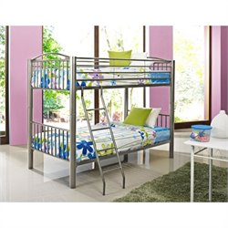 Powell Heavy Metal Bunk Bed in Pewter