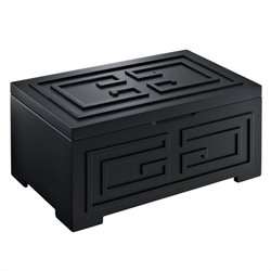 Powell Bombay Enna Black Jewelry Box in Black Finish