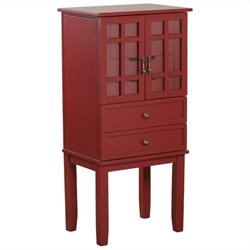 Powell Furniture Jewelry Armoire in Red
