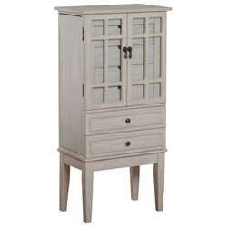 Powell Furniture Jewelry Armoire in White